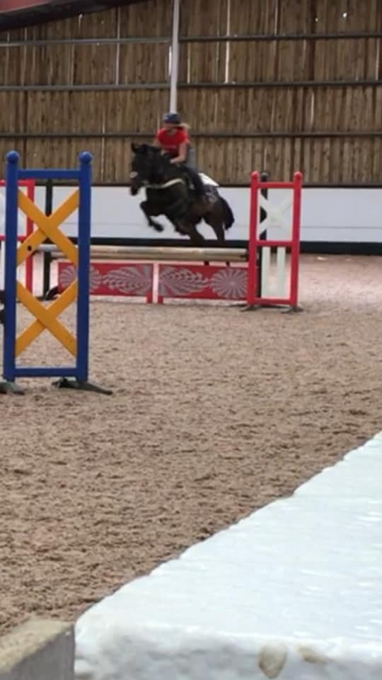 Giving Liquid Air helps Sarah Robson's Barney give the jumps some Air too!!