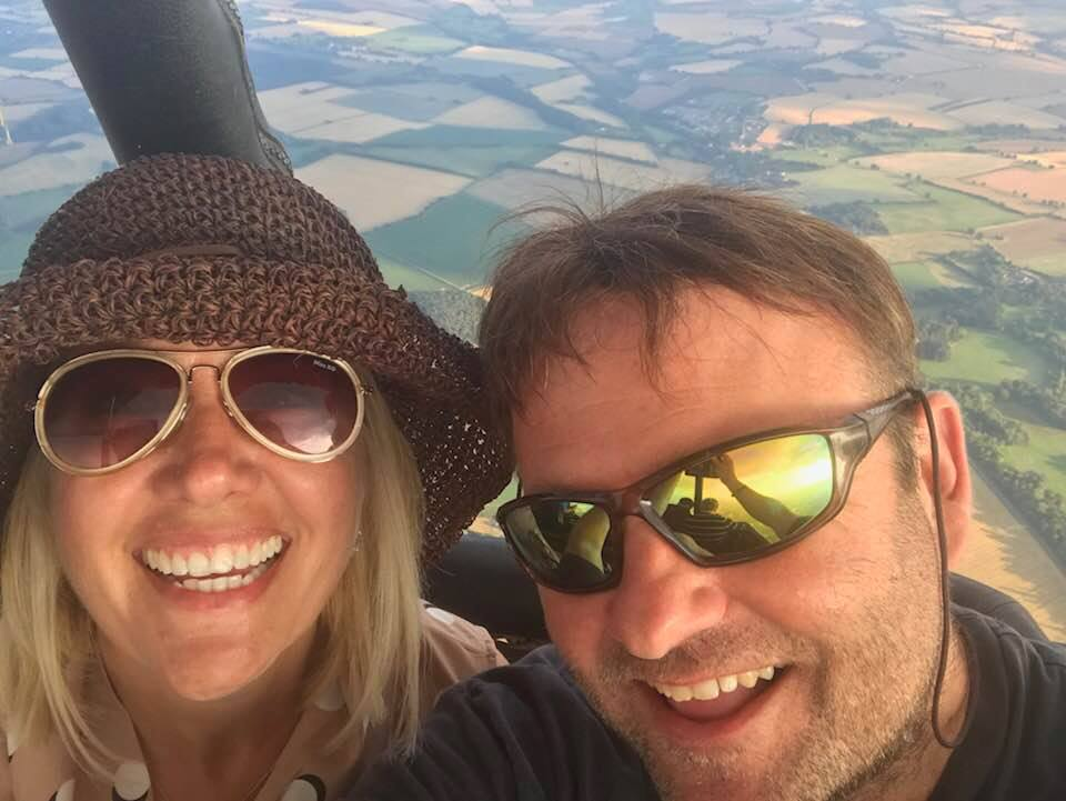 Alex and Jayne take to the skies for their 10th Anniversy